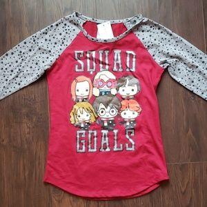 Harry Potter Squad Goals Shirt Size 7/8